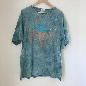 Vintage Southwest Cactus Tie Dye T Shirt